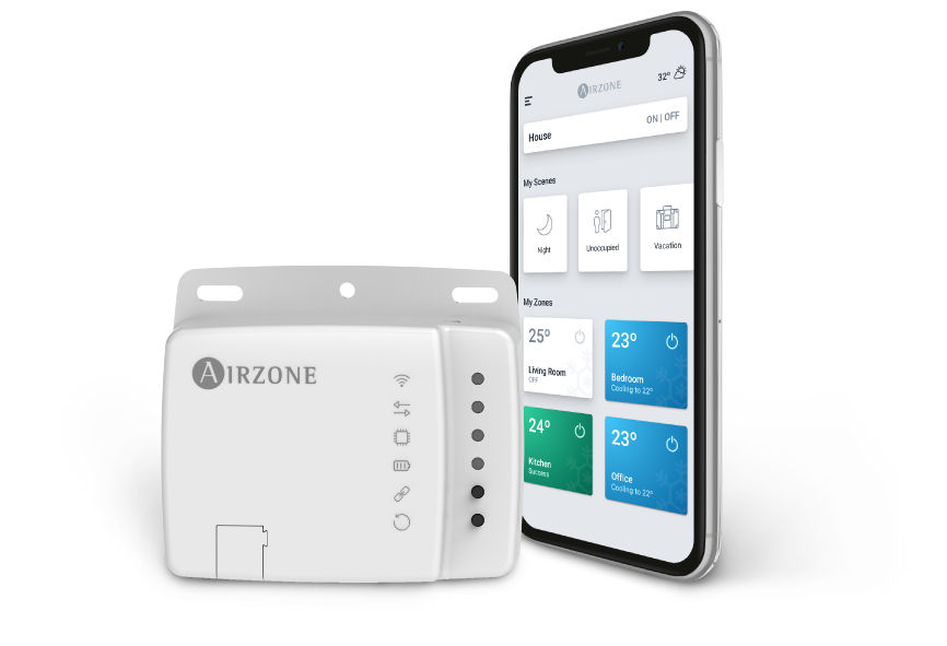 Airzone Aidoo Wifi -  Maximized control, efficiency, and       comfort with the simplest configuration